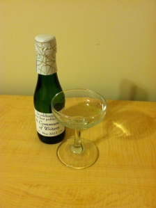 mini-champagne bottle